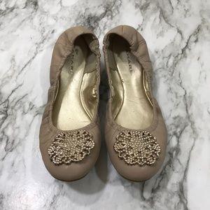 Tan Jewel Toe Tahari Flats Size 7